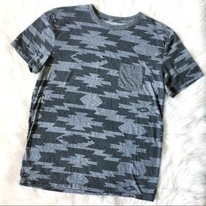 American Eagle Outfitters Shirts - AE | Men's Aztec Tribal Pocket Tee Sz M EUC